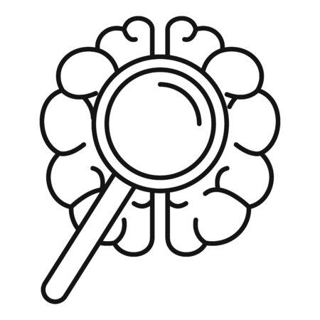 Brain dementia icon, outline style 스톡 콘텐츠 - 129587902