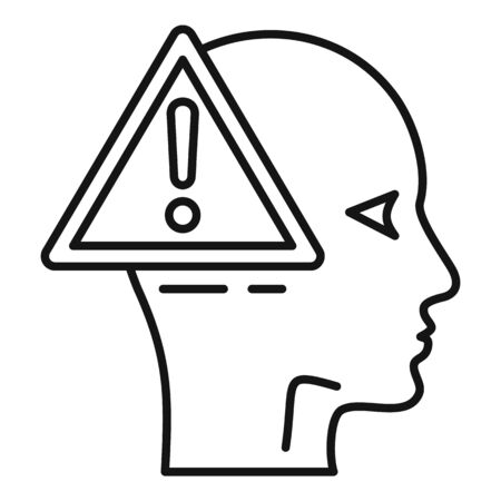 Alzheimers disease icon, outline style