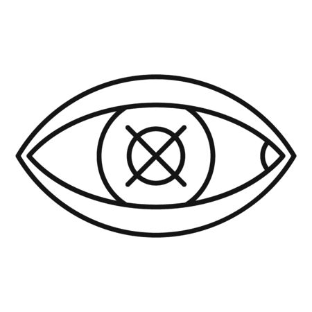 Confuse human eye icon, outline style