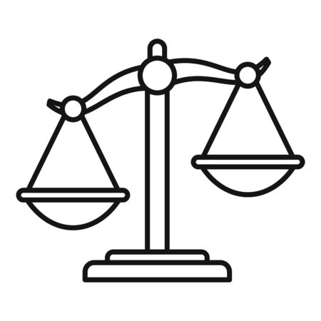 Disease balance icon, outline style