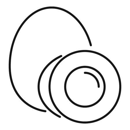 Boiled egg icon, outline style Illustration