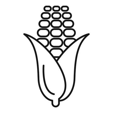 Corn icon, outline style 스톡 콘텐츠 - 129589966