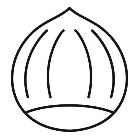 Hazelnut icon, outline style 스톡 콘텐츠 - 129589949