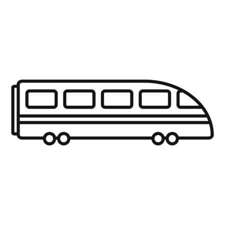 Speed train icon, outline style