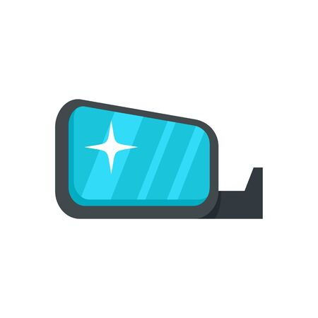 Clean car mirror icon. Flat illustration of clean car mirror vector icon for web design