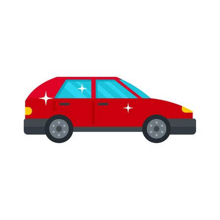 Clean car icon. Flat illustration of clean car vector icon for web design