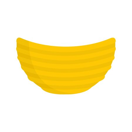 Rippled cheese chips icon. Flat illustration of rippled cheese chips vector icon for web design Imagens - 130007960