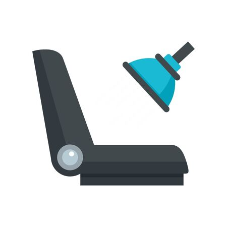 Car chair cleaning icon. Flat illustration of car chair cleaning vector icon for web design