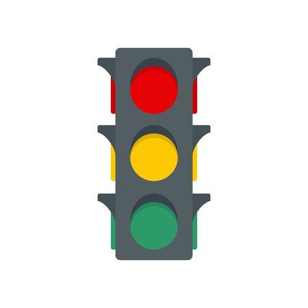 Classic traffic lights icon. Flat illustration of classic traffic lights vector icon for web design
