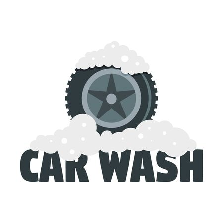 Car wash tire. Flat illustration of car wash tire vector   for web design