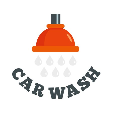 Water drop car wash. Flat illustration of water drop car wash vector   for web design