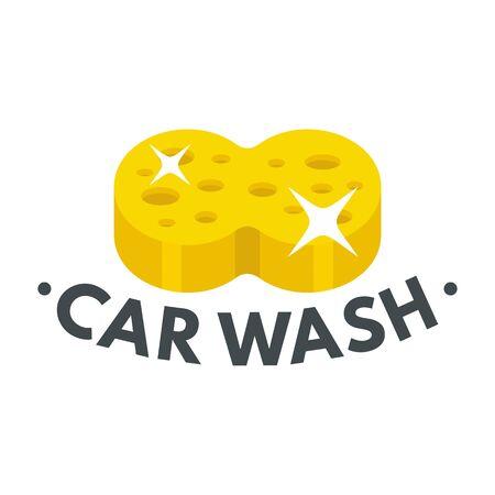 Sponge car wash. Flat illustration of sponge car wash vector for web design  イラスト・ベクター素材