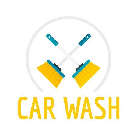 Brush car wash. Flat illustration of brush car wash vector   for web design  イラスト・ベクター素材