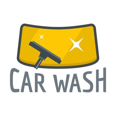 Car wash wind glass . Flat illustration of car wash wind glass vector for web design