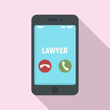 Lawyer phone call icon. Flat illustration of lawyer phone call vector icon for web design