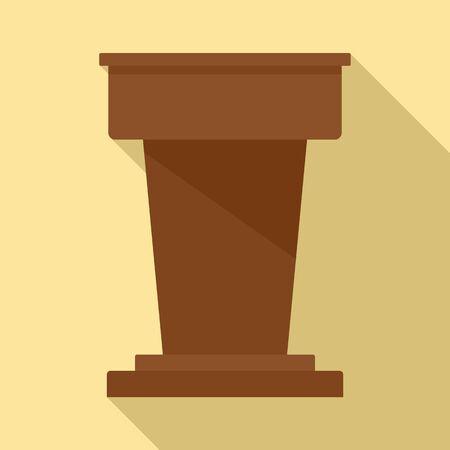 Lawyer tribune icon. Flat illustration of lawyer tribune vector icon for web design Ilustracja