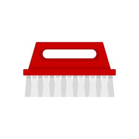 Wash brush icon. Flat illustration of wash brush vector icon for web design