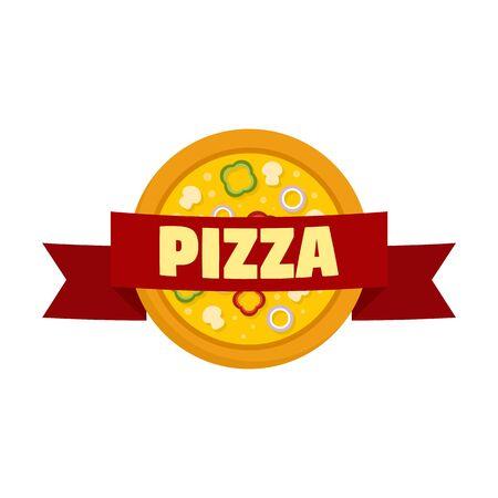 Pizza. Flat illustration of pizza vector  for web design