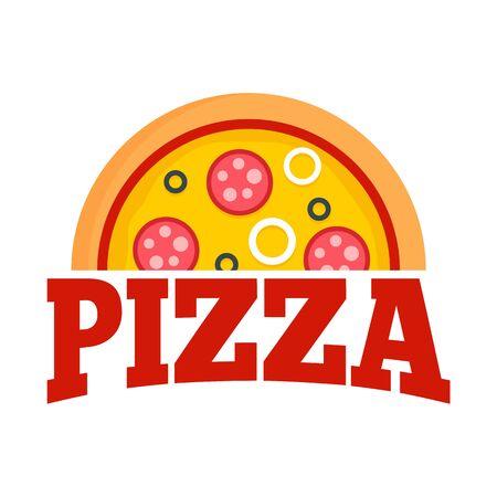 Pizza margarita   Flat illustration of pizza margarita vector   for web design