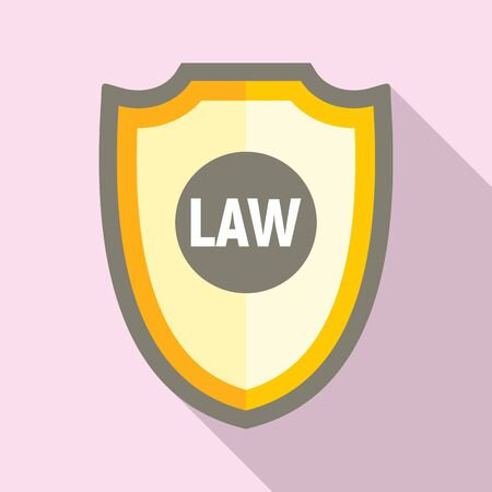 Law shield icon. Flat illustration of law shield vector icon for web design