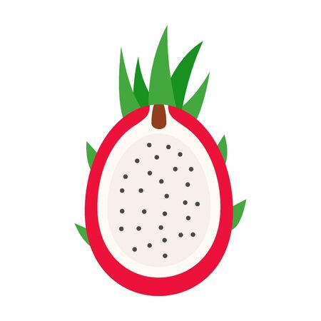 Cutted pitaya icon. Flat illustration of cutted pitaya vector icon for web design