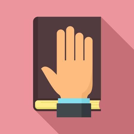 Lawyer oath icon. Flat illustration of lawyer oath vector icon for web design Ilustracja