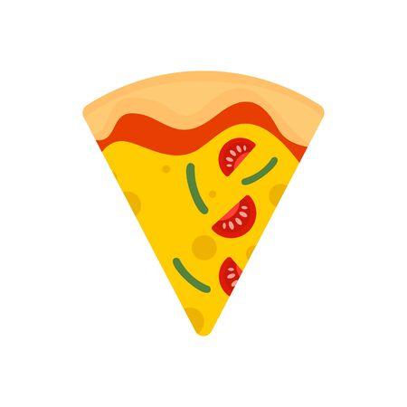 Tranche d'icône de pizza mozzarella. Télévision illustration de tranche de pizza mozzarella icône vecteur pour la conception web Vecteurs