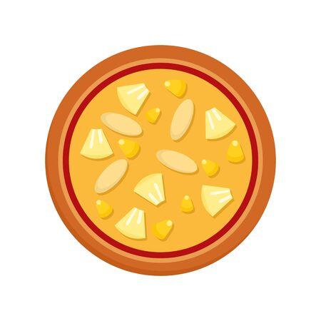 Vegan pizza icon. Flat illustration of vegan pizza vector icon for web design