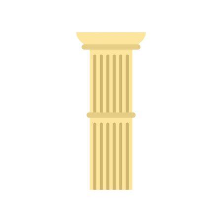 Pillar icon. Flat illustration of pillar vector icon for web design