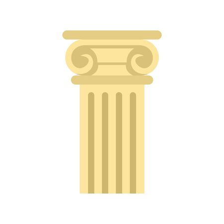 Ancient pillar icon. Flat illustration of ancient pillar vector icon for web design