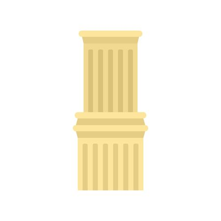Ancient column icon. Flat illustration of ancient column vector icon for web design