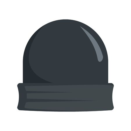 Black beanie icon. Flat illustration of black beanie vector icon for web design