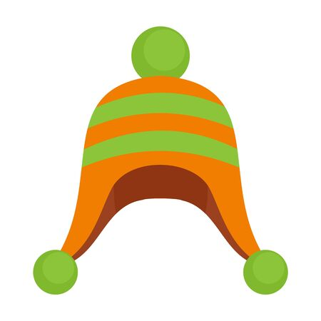 Winter cold hat icon. Flat illustration of winter cold hat vector icon for web design Ilustração