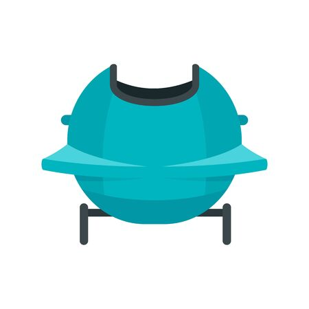 Back bobsleigh icon. Flat illustration of back bobsleigh vector icon for web design Illusztráció