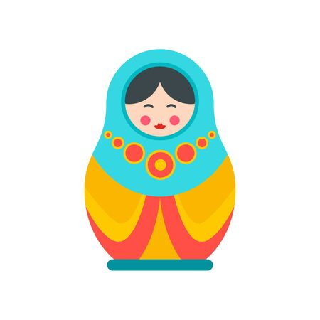 Culture nesting doll icon. Flat illustration of culture nesting doll vector icon for web design Stock Illustratie