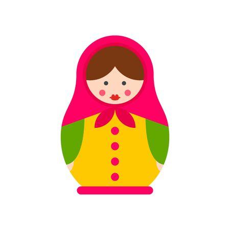 Handmade nesting doll icon. Flat illustration of handmade nesting doll vector icon for web design Ilustração