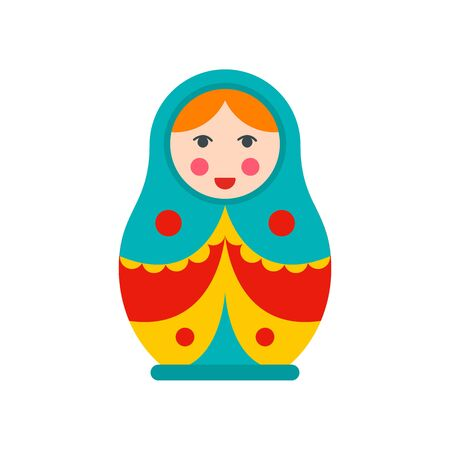 Soviet nesting doll icon. Flat illustration of soviet nesting doll vector icon for web design