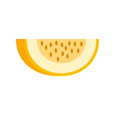 Piece of melon icon. Flat illustration of piece of melon vector icon for web design