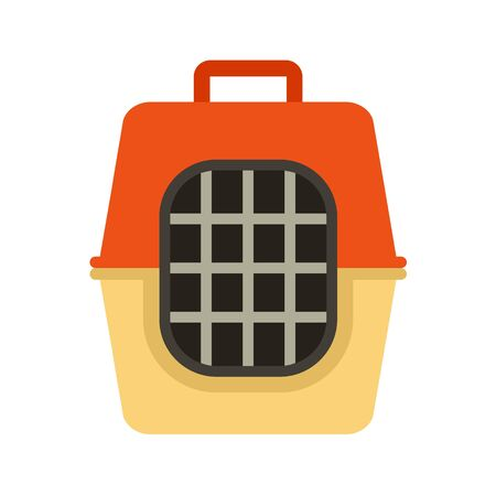 Pet travel cage icon. Flat illustration of pet travel cage vector icon for web design