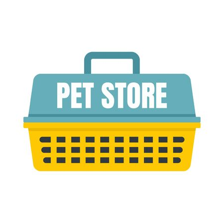 Pet store basket , flat style Фото со стока - 130162362