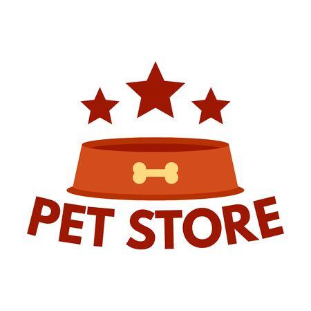 Pet plate store , flat style