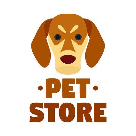 Dog pet store , flat style