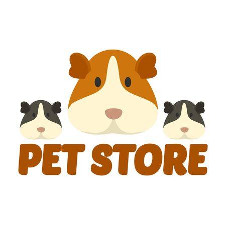 Cary pet store , flat style Illustration