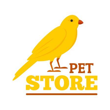 Bird pet store , flat style