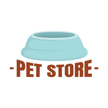 Pet store plastic plate , flat style