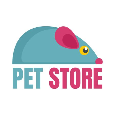 Pet store toys , flat style