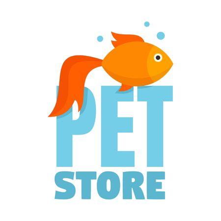 Fish pet store , flat style
