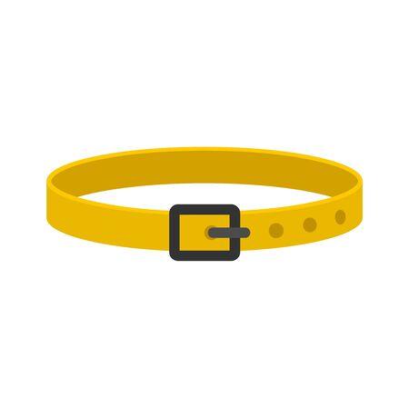 Dog belt icon, flat style