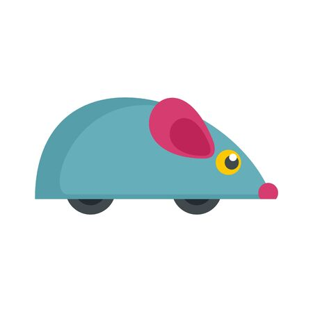 Mouse toy icon, flat style