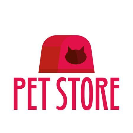 Cat box pet store , flat style